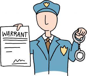 Police-Officer-with-Arrest-Warrant-illustration-300x261